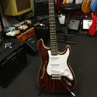 Haze Semi-Hollow Body+Brown Zebra Veneer Electric Guitar,SSS |HSST 19SM AF 088| for sale