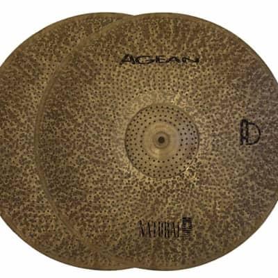 """Agean Cymbals 14"""" Natural R-Series Low Volume Hi-Hat"""