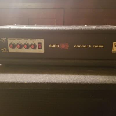 SUNN Concert Bass Head 400 Watts/200 rms, Vintage 1978, Black for sale