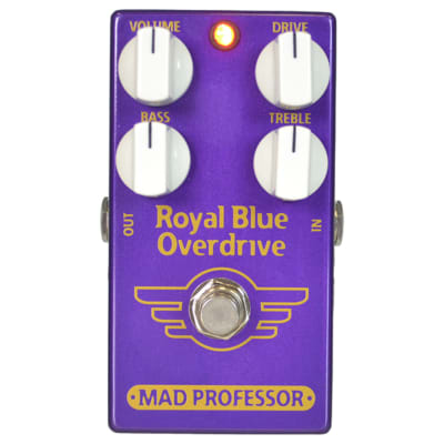 Mad Professor Royal Blue Tranparent Overdrive Guitar Effect Pedal