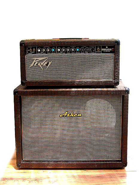 modified peavey deuce vt tube guitar head w matching 2x12 reverb. Black Bedroom Furniture Sets. Home Design Ideas