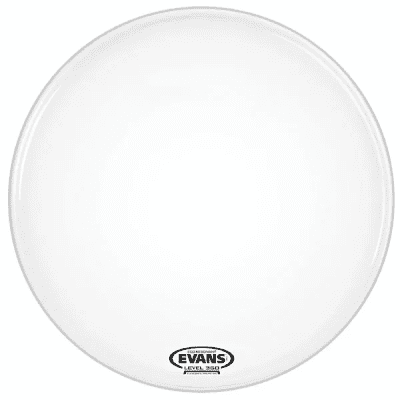 """Evans BD18RGCW-NP EQ3 Resonant Coated White Bass Drum Head with No Port - 18"""""""