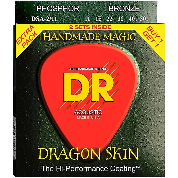dr dragon skin coated acoustic guitar strings 11 50 dsa 2 11 reverb. Black Bedroom Furniture Sets. Home Design Ideas
