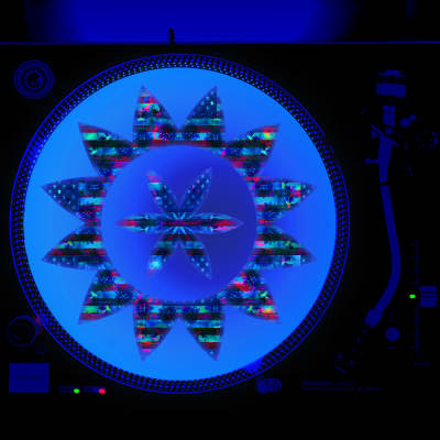 Made in America - DJ Turntable Slipmat 12 inch LP Vinyl Record Player Glow Series (glows under black light)