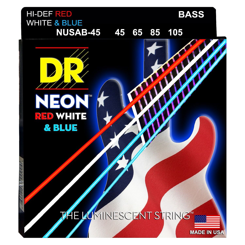 DR Neon PINK BASS Guitar Strings 45-105 NPB45