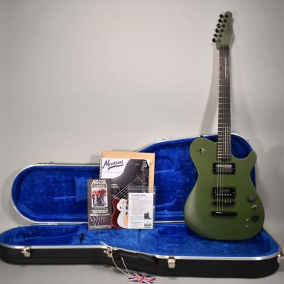 2019 Manson MA EVO Sustainiac Drone Green/Black Finish Electric Guitar w/OHSC for sale