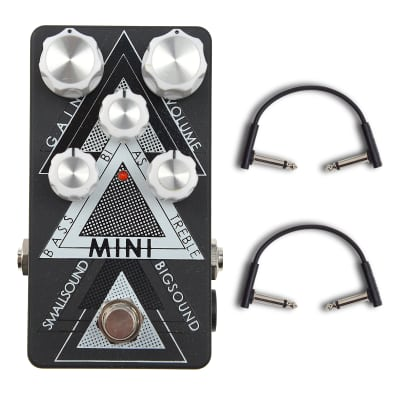 smallsound/bigsound Mini Overdrive v2 w/RockBoard Flat Patch Cables Bundle
