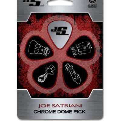 Planet Waves JSCD-01 Joe Satriani Signature Chrome Dome Guitar Picks (4-Pack)