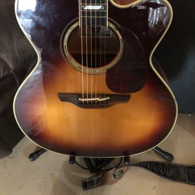 Takamine EF250TK Signature Series Toby Keith Model NEX Cutaway Acoustic/Electric Guitar Sunburst