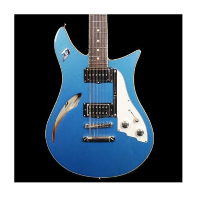 Duesenberg Double Cat 12-String Electric Guitar in Catalina Blue