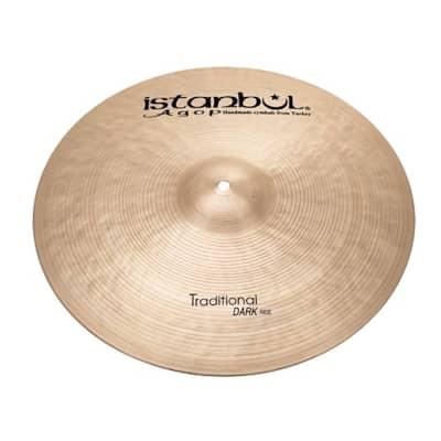 """Istanbul Agop 22"""" Traditional Series Dark Ride Cymbal"""