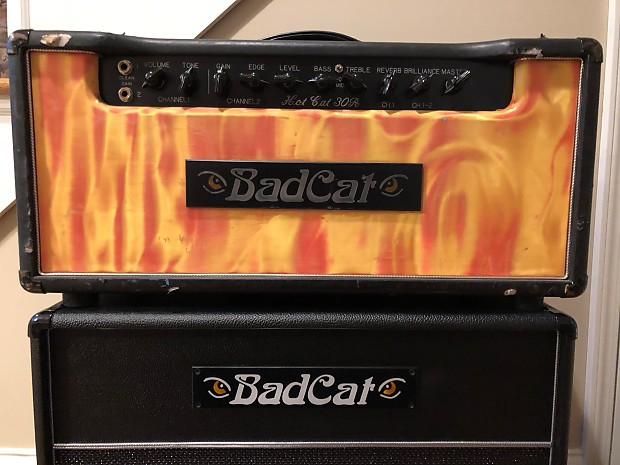 f7a95b3c007 Bad Cat Hot Cat 30R Late 90 s Custom flame tolex with