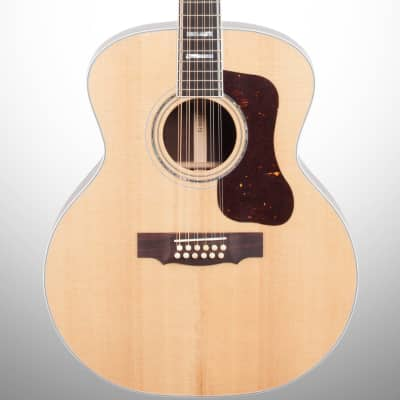 Guild F-512 12-String Acoustic Guitar (with Case), Natural for sale