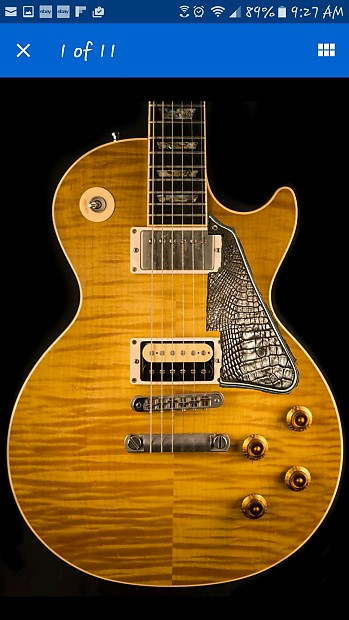 Custom Pickguard Gibson Les Paul New Custom Alligator Skin