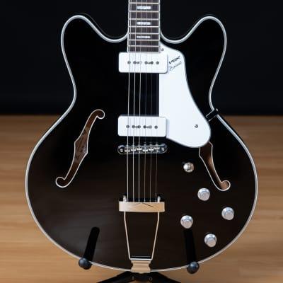 Vox Bobcat V90 Semi-Hollow Electric Guitar - Black SN S2001073 for sale