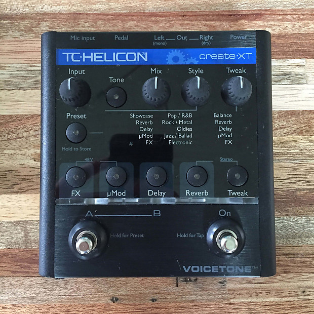 tc helicon voicetone create xt vocal effects pedal reverb. Black Bedroom Furniture Sets. Home Design Ideas