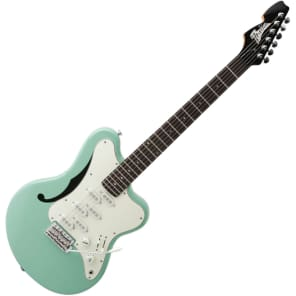 Italia Imola 6 Semi-Hollow Electric Guitar - Surf Green with Gig Bag for sale