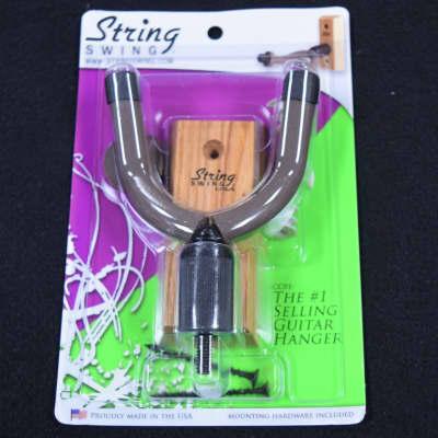String Swing Wall Mounted Guitar/Bass Hanger, Natural Hardwood