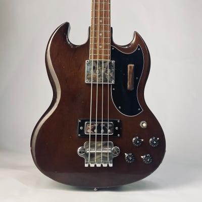 Vintage Japan Columbus SG bass EB 1974 Walnut short scale for sale