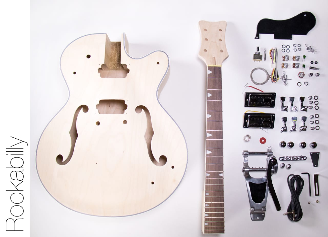 the fretwire diy electric guitar kit hollow body build your reverb. Black Bedroom Furniture Sets. Home Design Ideas