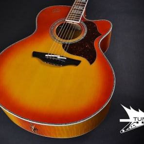 Takamine EG523CDX-HB Deluxe Acoustic/Electric Jumbo - Honey Burst (021) for sale