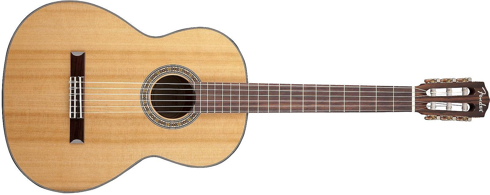Fender Cn 140s Solid Cedar Rosewood Classical Natural Reverb