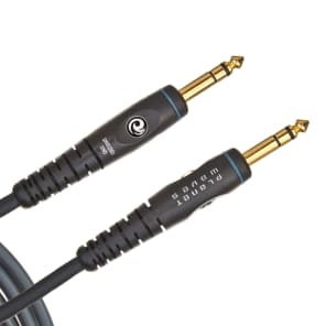 "Planet Waves PW-GS-10 Custom Series 1/4"" TRS Straight Gold-Plated Stereo Instrument Cable - 10'"