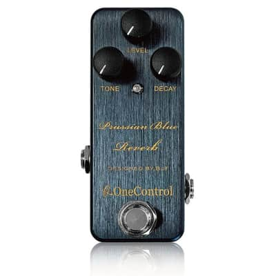 One Control Prussian Blue Reverb BJF Designed True Bypass Guitar Effects Pedal for sale