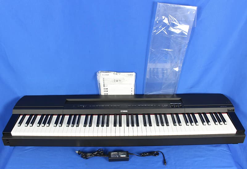 yamaha p 255 weighted 88 key electric digital piano keyboard reverb. Black Bedroom Furniture Sets. Home Design Ideas