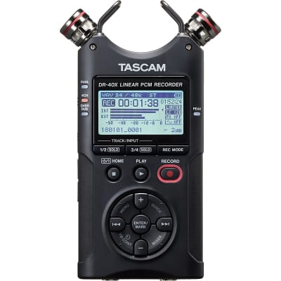 TASCAM DR-40X Four-Track Digital Portable Audio Recorder and USB Audio Interface