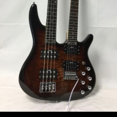 Galveston double neck bass and guitar 2000s Quilted maple for sale