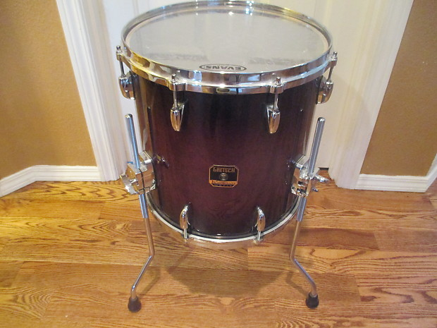 Gretsch Renown Maple 14 X 14 Floor Tom On Legs Cherry Burst Reverb