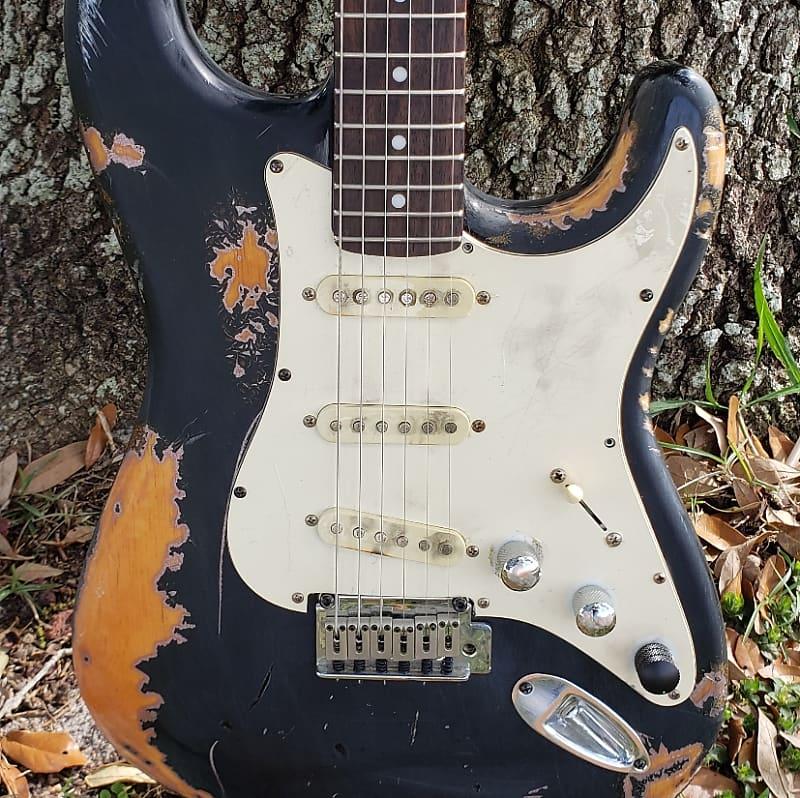 relic fender stratocaster partscaster electric guitar squier reverb. Black Bedroom Furniture Sets. Home Design Ideas