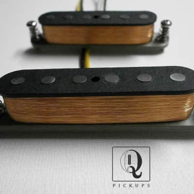 MUSTANG Guitar Pickup SET A5 HOT Vintage Fits Fender GrayBottom HandWound by Q pickups Duo Sonic