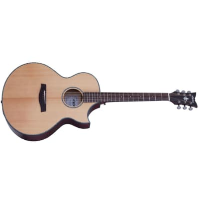Schecter Orleans Stage Acoustic Natural Satin Top Vampyre Red Satin Back VRS NEW AE Guitar + BAG for sale