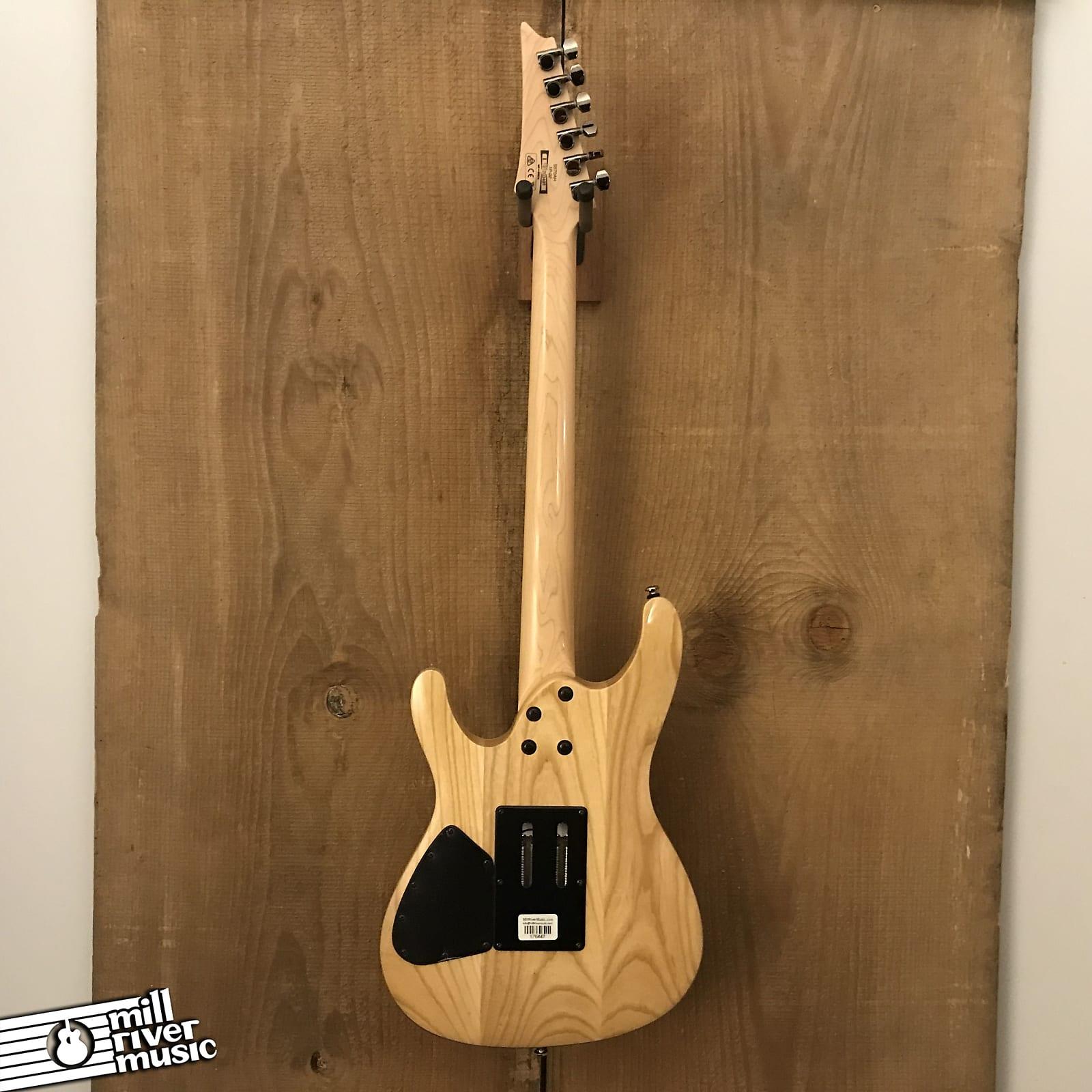 Ibanez S570AH Electric Guitar Silver Wave Black 2019