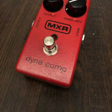 MXR Dyna Comp Block Logo Late 1990's Red