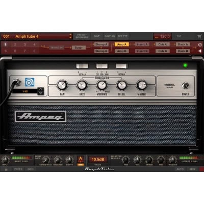 IK Multimedia Ampeg SVX 2 Collection of Bass Amplifier and Cabinet Emulations for AmpliTube Plug-In (Download)