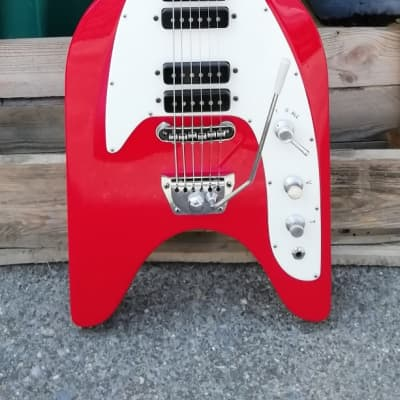 Ultra Rare Vintage Rex Ariston Rokes '60 In Red All Original The Same As Eko Rokes Unique Made In Italy for sale