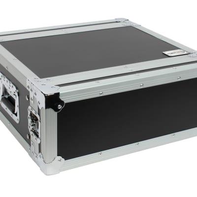 "XSPRO XS4U-14 4 Space 4U ATA Effects Rack Flight Tour Case 19"" Wide 14"" Deep image"