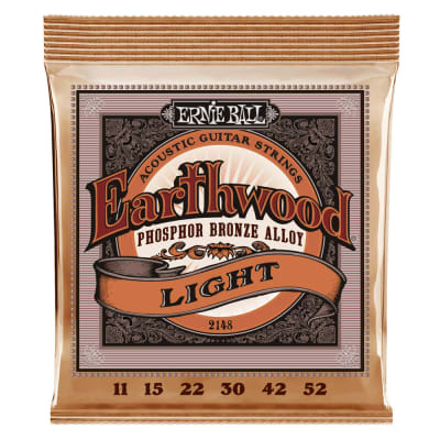 Ernie Ball Earthwood Light Phosphor Bronze Acoustic Guitar Strings 11-52 Gauge