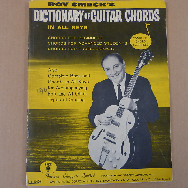 guitar ROY SMECK \' s Dictionary of Guitar Chords , 1956 | Reverb