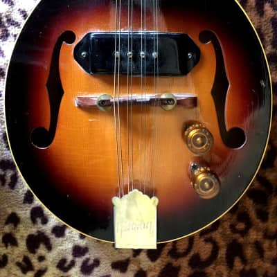 Vintage '50s Gibson EM-150 Mandolin sunburst plus case for sale