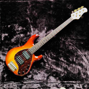 Ernie Ball Music Man StingRay 5 HH (2006) Gloss Tobacco Burst (?)  w/Tortoise Shell Pickguard for sale