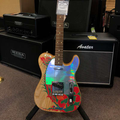 Fender Artist Series Jimmy Page Telecaster Natural with Dragon Graphic 2019