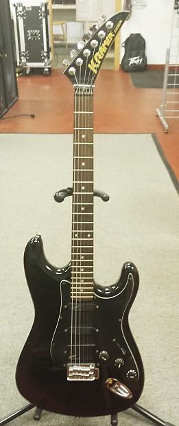 vintage kramer 2x30h 1980 6 string electric guitar black no reverb. Black Bedroom Furniture Sets. Home Design Ideas
