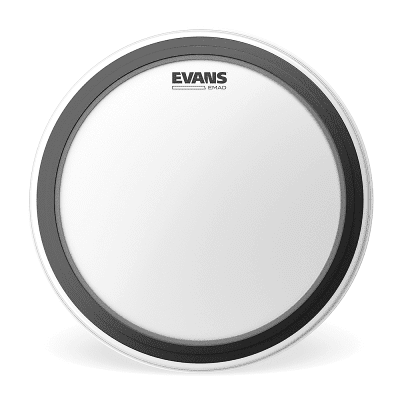 """Evans BD18EMADCW EMAD Coated White Bass Drum Head - 18"""""""