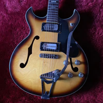 "c.1968- Firstman /Burns S2-A Broadway Series Hollow Body MIJ Vintage Guitar  ""Sunburst"""