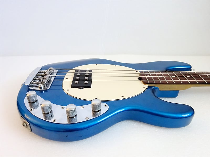 music man stingray ex bass 2002 blue pearl made in japan reverb. Black Bedroom Furniture Sets. Home Design Ideas