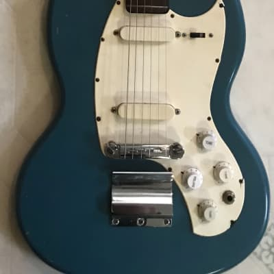 1967 Gibson Kalamazoo USA SG Shape KG-2 Guitar, Blue, ORIGINAL for sale